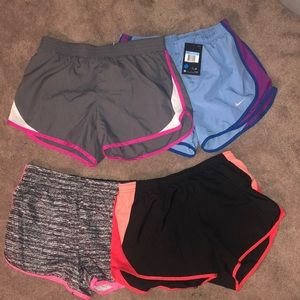 Four pair of shorts